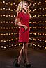 Женское однотонное платье с отделкой из кружева (2518-2516-2517-2519 svt), фото 2