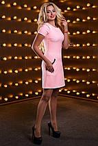 Женское однотонное платье с отделкой из кружева (2518-2516-2517-2519 svt), фото 3