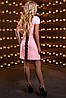Женское однотонное платье с отделкой из кружева (2518-2516-2517-2519 svt), фото 5