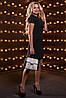 Женское однотонное платье с отделкой из кружева (2518-2516-2517-2519 svt), фото 4