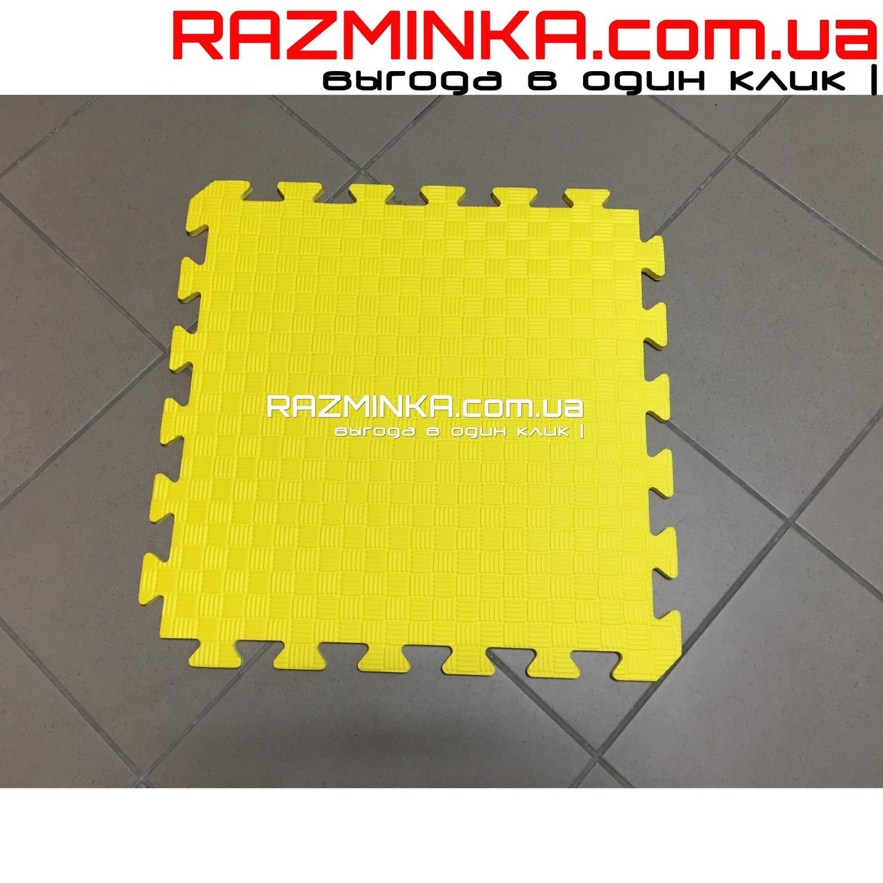 Коврик пазл ева 50х50х1см (желтый)