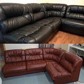Перетяжка мягкой мебели. Обивка углового дивана