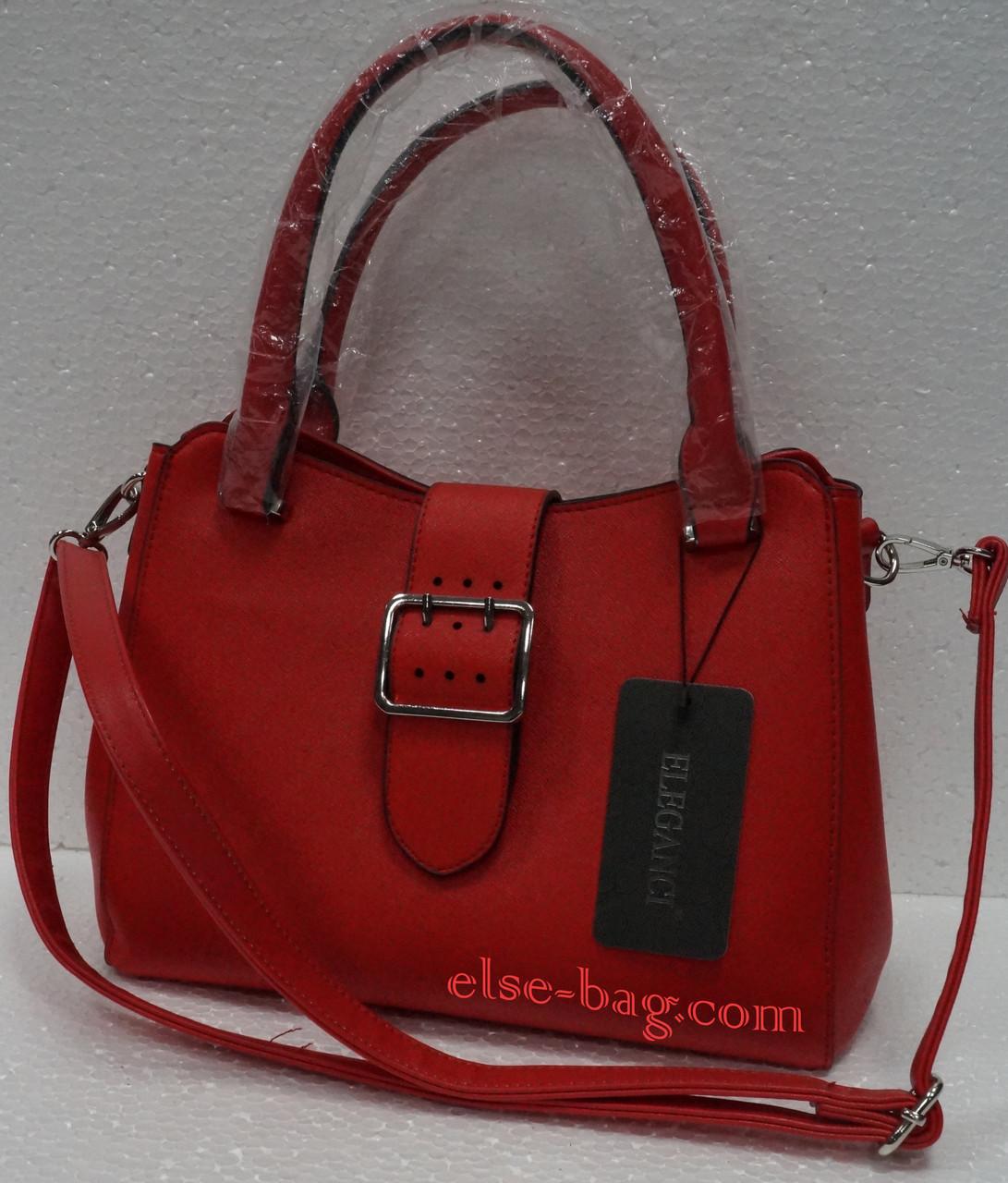8ce226d3bfc6 Красная сумка с пряжкой -