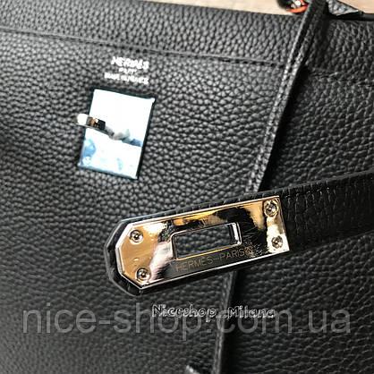 Люкс-реплика Эрмес Келли серая в коже 32 см, стандарт, фото 3