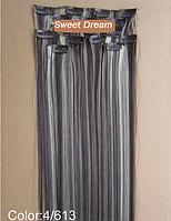 Набор накладных прядей на заколках-клипсах из 7-ми штук, наращивание волос, искусственные волосы, цвет №4\613