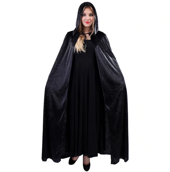 Накидка с капюшоном велюровая (костюмы на Хэллоуин)