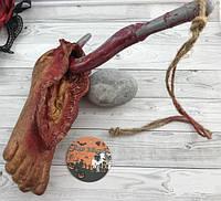 Нога с крюком - декор для Хэллоуина