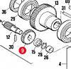 Шестерня червячная пласт. SUMO (PPD2061R02.4540)