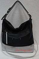 Мягкая сумка двухцветная на одну ручку черная