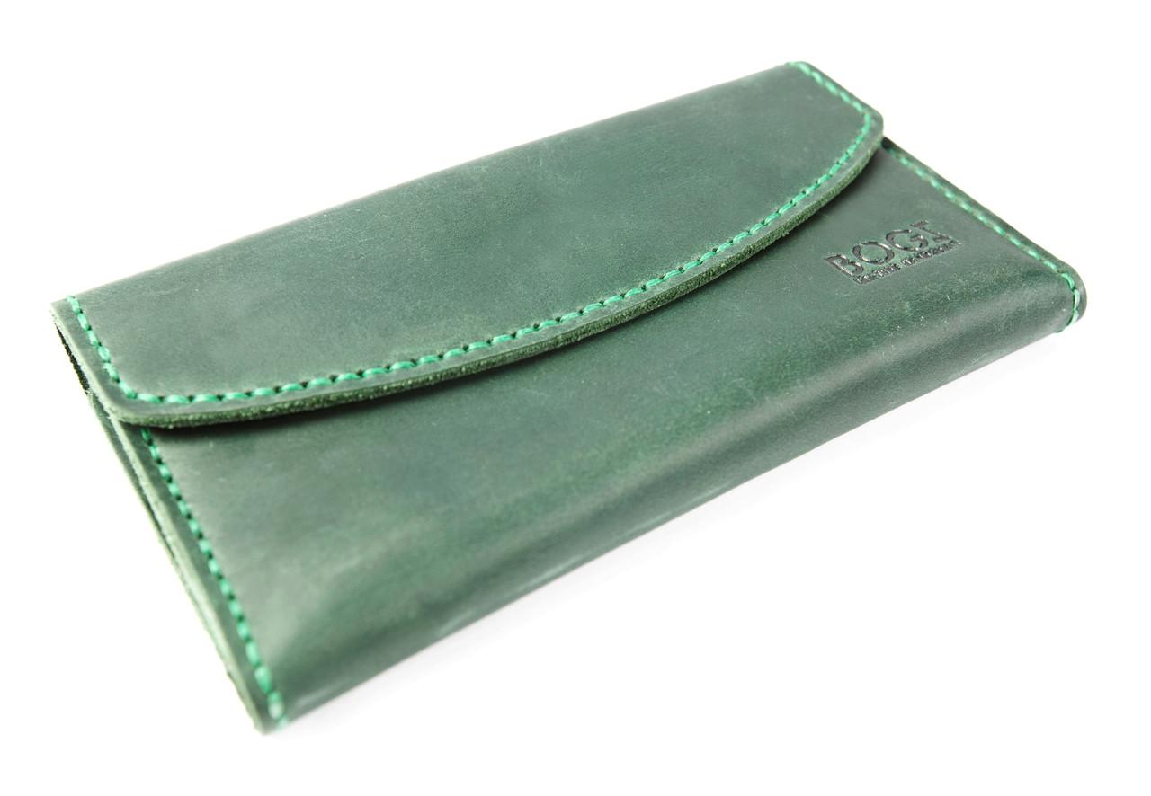 7deee3cef186 Кожаный кошелек «Евника» - Интернет-магазин кожаных аксессуаров ручной  работы BOGZ в Виннице