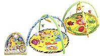 Развивающий коврик для малышей 898-302B  с погремушками, в сумке 65*61 см