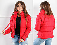 Женская зимняя короткая куртка,на силиконе, черный, синий, пудра, красный, 868530d1ffc