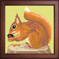 Схема для вышивания нитками №1108 Белочка с орешком