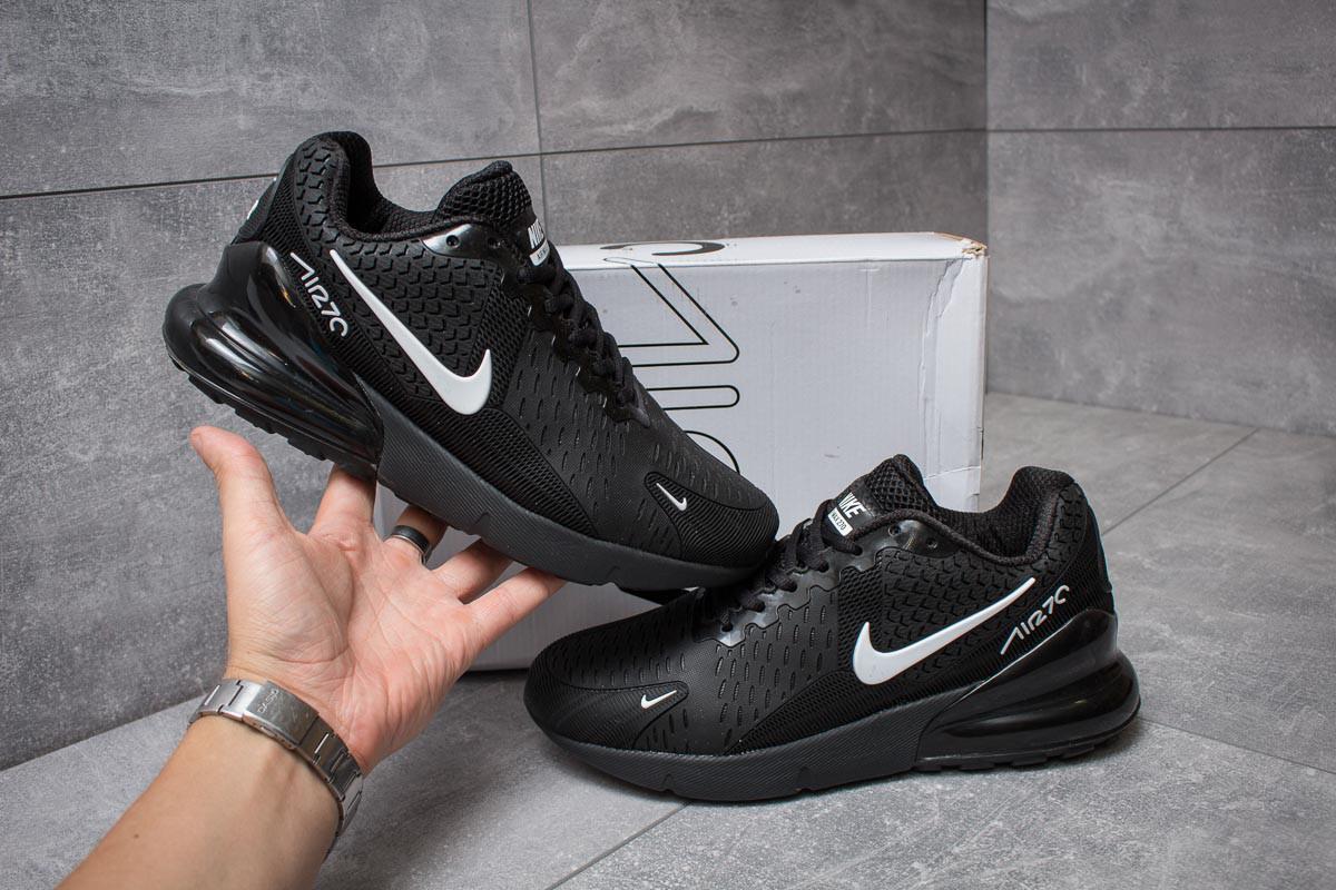 ... Модные мужские кроссовки Nike Air 270 (Найк Аэр) черные с белым значком  - реплика ... 8cc5792a7b1