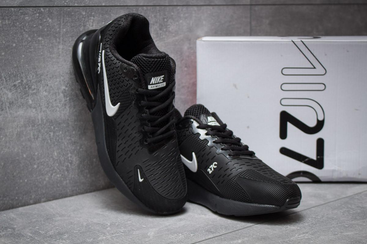 ... Модные мужские кроссовки Nike Air 270 (Найк Аэр) черные с белым значком  - реплика dc961c209c5