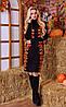 Вязаное платье с розами (в расцветках), фото 5