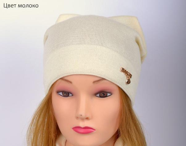 Очень стильная и модная весенняя шапка для девушки