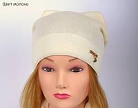 Очень стильная и модная весенняя шапка для девушки , фото 1