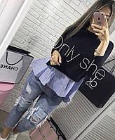 Женский крутой свитер с блузой, фото 1