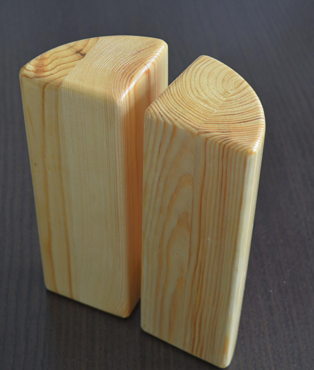 Йога-блок кирпич полукруглый Набор 2 шт