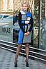 Теплое женское платье под пояс 44-48 (в расцветках), фото 2