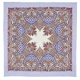 Венецианская ночь 1260-1, павлопосадский платок шерстяной  с оверлоком