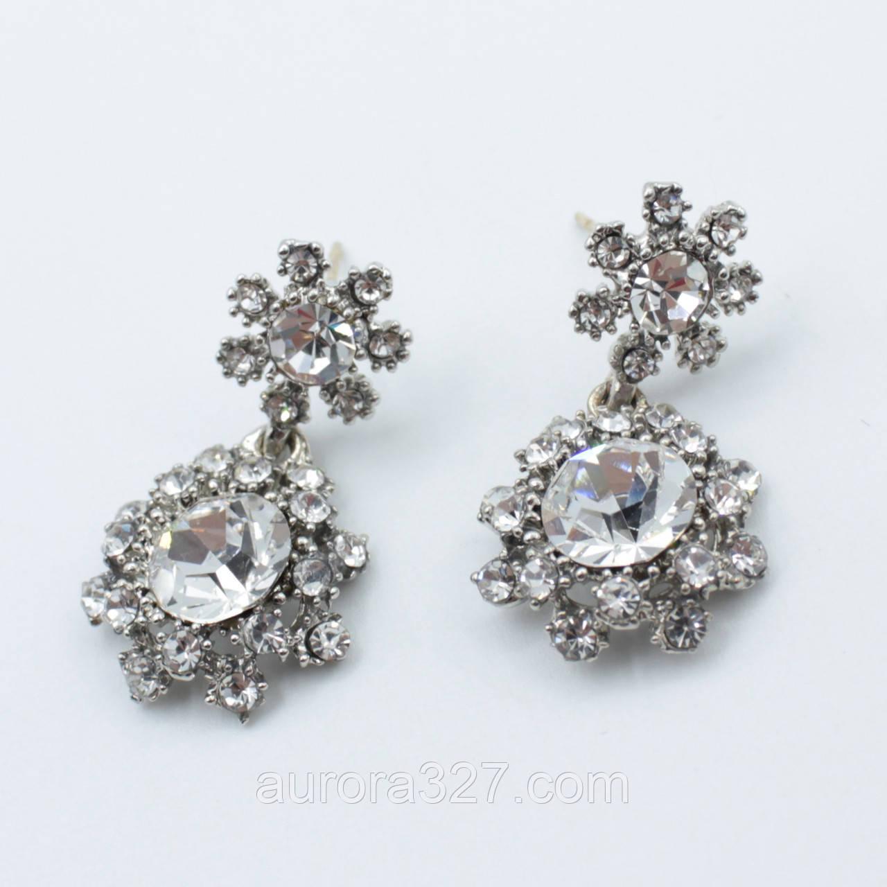 "Серьги  ""Ariadna silver""  L-3 см"