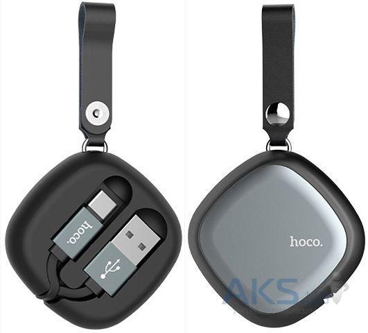 Кабель USB Hoco U33 Retractable with Cord Reel Type-C Cable Black