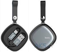 Кабель USB Hoco U33 Retractable with Cord Reel Type-C Cable Black, фото 1