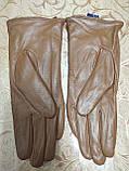 Кожа натуральная с Флис женские перчатки только оптом, фото 3