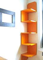 Полка угловая, навесная для книг и игрушек №7 Кремона