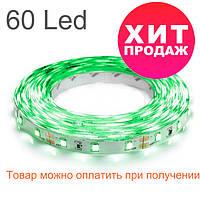 Светодиодная лента 3528-60 IP20, негерметичная, зеленая, фото 1