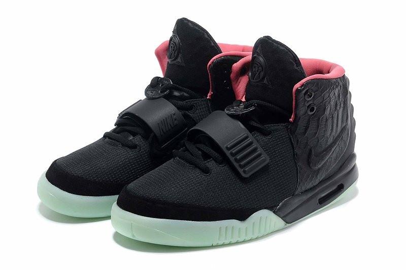 d97cf051 Кроссовки Nike Air Yeezy 2 черно-салатовые - интернет-магазин