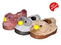 Детские меховые тапочки зимние р(24-14см)