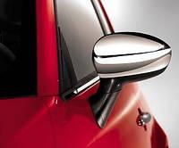 Накладки на зеркала Fiat Punto 2012- (2 шт., нерж.) Carmos