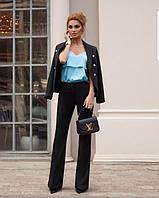 Женский стильный костюм-двойка брюки и двубортный пиджак, фото 1