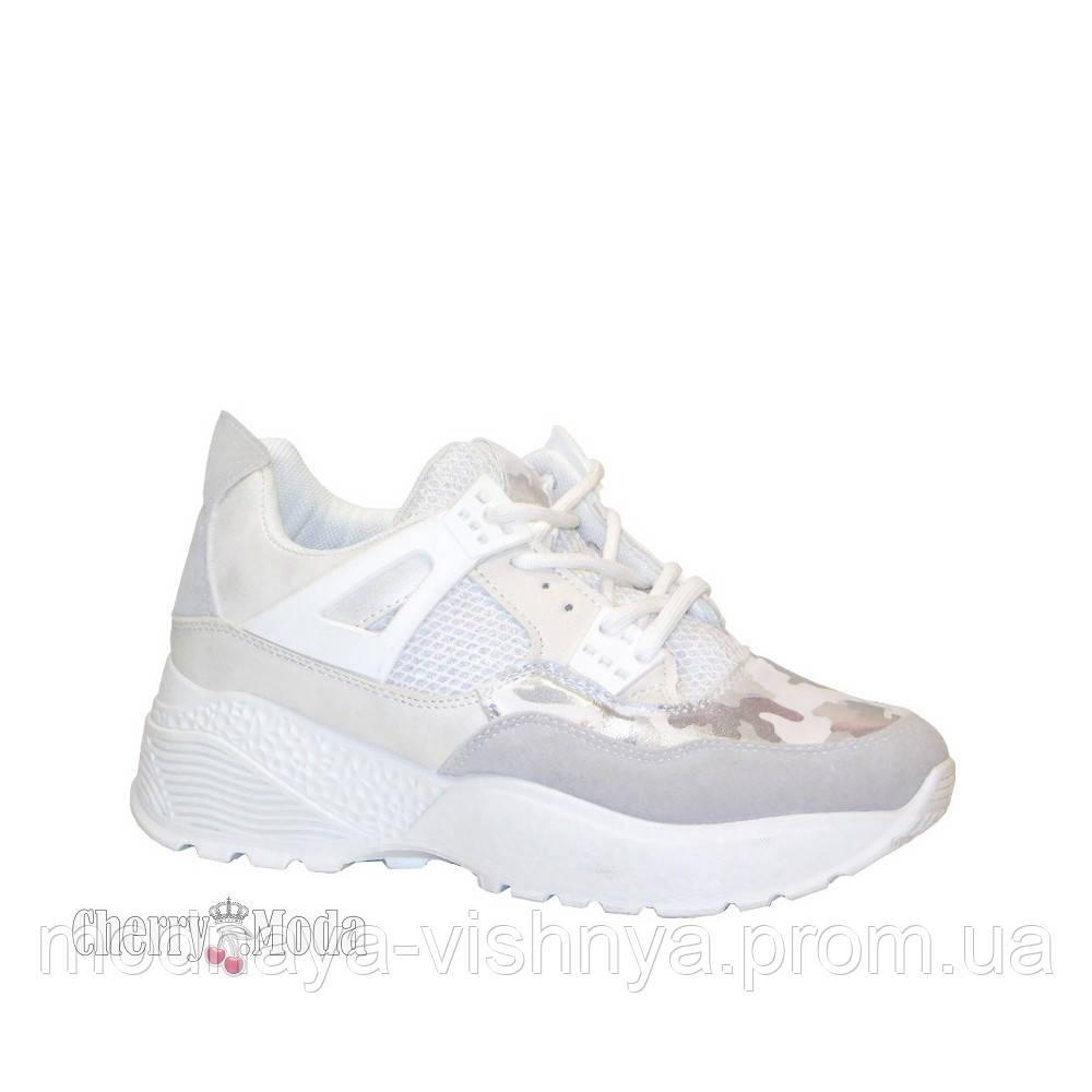 12a1f57ce Женские модные белые кроссовки на высокой подошве купить недорого с ...