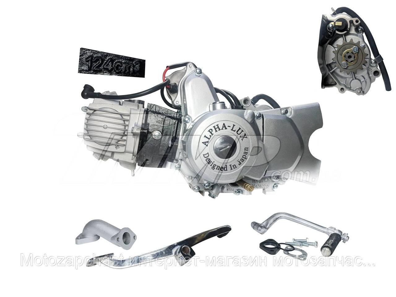 Двигатель Дельта/Алфа JH125 см3 механика +карбюратор Alphalux