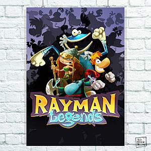 Постер Rayman (Legends), Рэймен Легенды. Размер 60x42см (A2). Глянцевая бумага
