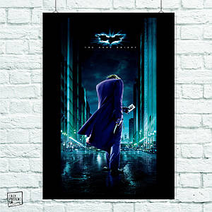 Постер Joker (Dark Knight, спиной). Размер 60x43см (A2). Глянцевая бумага