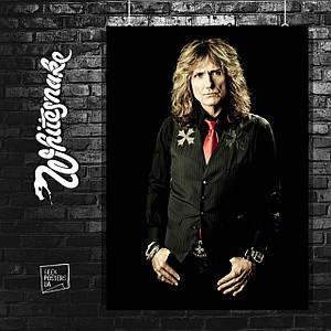 Постер David Coverdale, ex Whitesnake. Размер 60x42см (A2). Глянцевая бумага