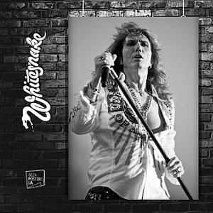 Постер David Coverdale, ex Whitesnake. Размер 60x40см (A2). Глянцевая бумага
