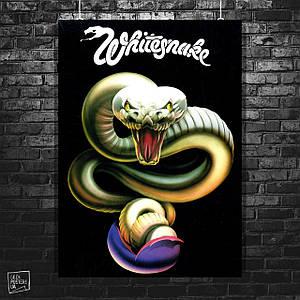 Постер Whitesnake, лого. Размер 60x42см (A2). Глянцевая бумага