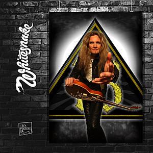 Постер Whitesnake, гитарист. Размер 60x42см (A2). Глянцевая бумага