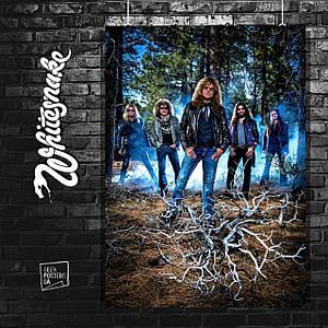 Постер Whitesnake. Размер 60x42см (A2). Глянцевая бумага