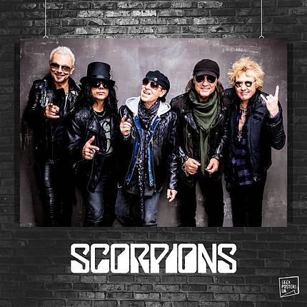 Постер Scorpions, Скорпионс. Размер 60x42см (A2). Глянцевая бумага, фото 2