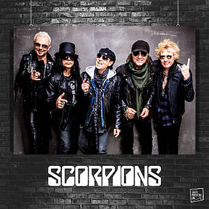Постер Scorpions, Скорпионс. Размер 60x42см (A2). Глянцевая бумага