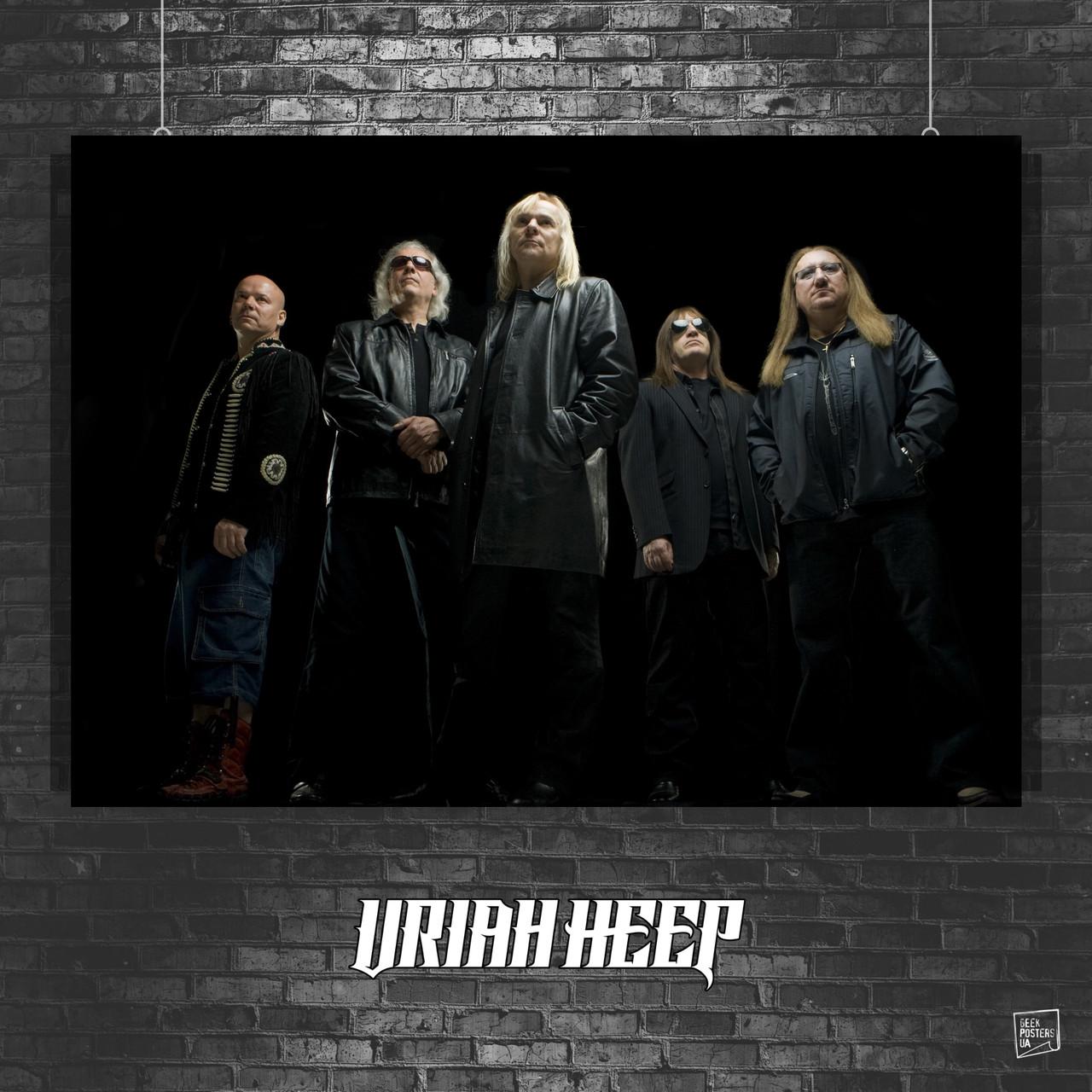 Постер Uriah Heep, Юрай Хип. Размер 60x42см (A2). Глянцевая бумага