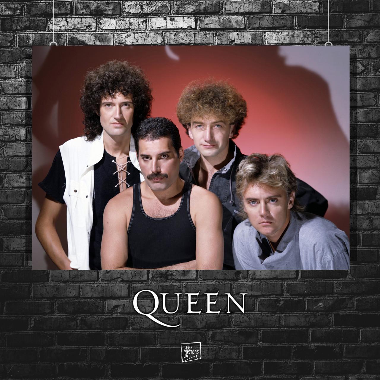 Постер Queen, Freddy Mercury, Квин, Фредди Меркьюри. Размер 60x42см (A2). Глянцевая бумага