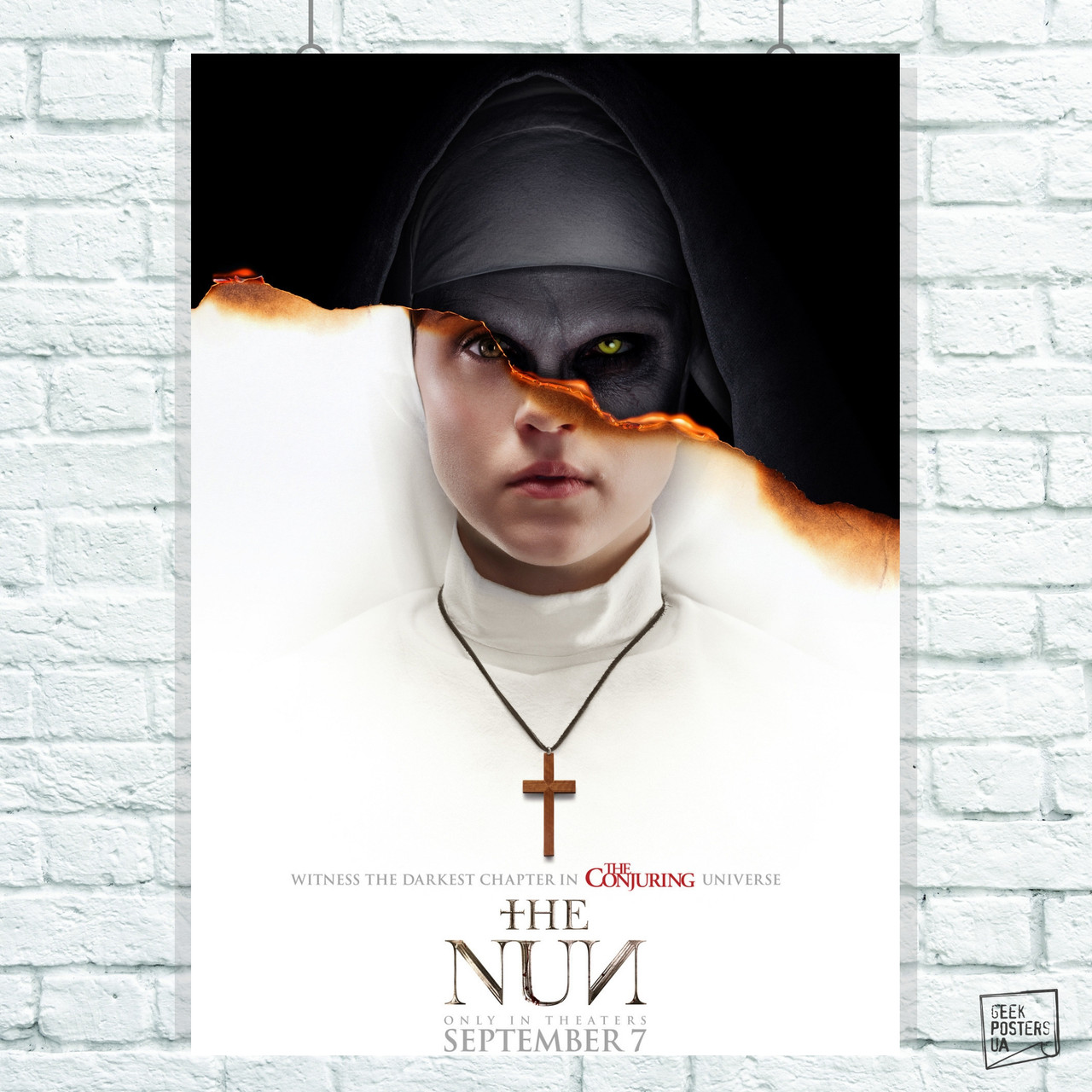 Постер Проклятие монахини (The Nun). Размер 60x40см (A2). Глянцевая бумага